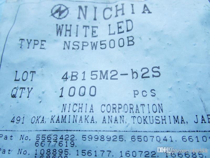 Bakır iletken yeni Nichia LED NSPW500GS BS B, D parlak beyaz ışık yayan diyot 5MM ayak