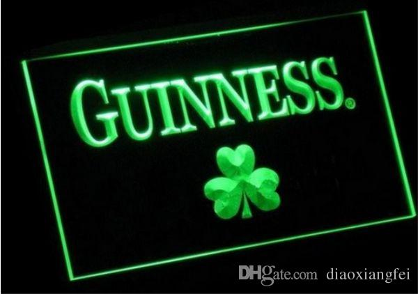 Guinness Shamrock beer bar pub club 3d signs led neon light sign home decor crafts