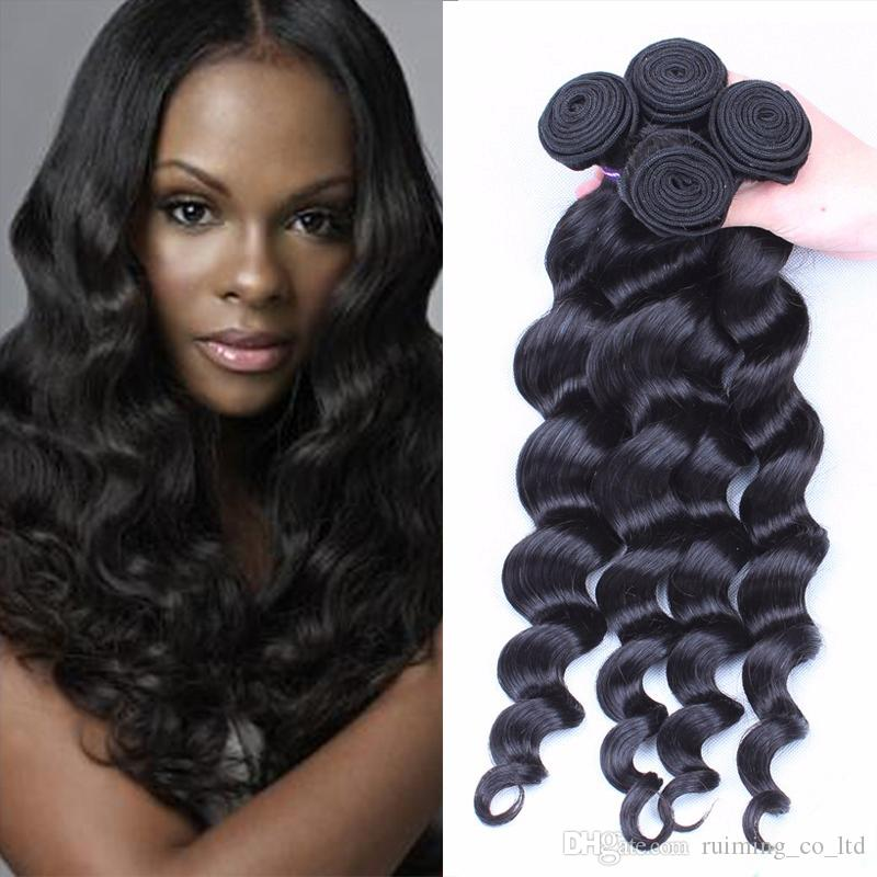 2018 Fashionkey Newest Loose Wave Hair Bundles Cheap Blonde Black