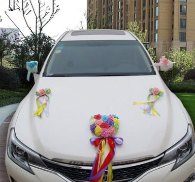 Chinese Wedding Flower Set Decoration Car For