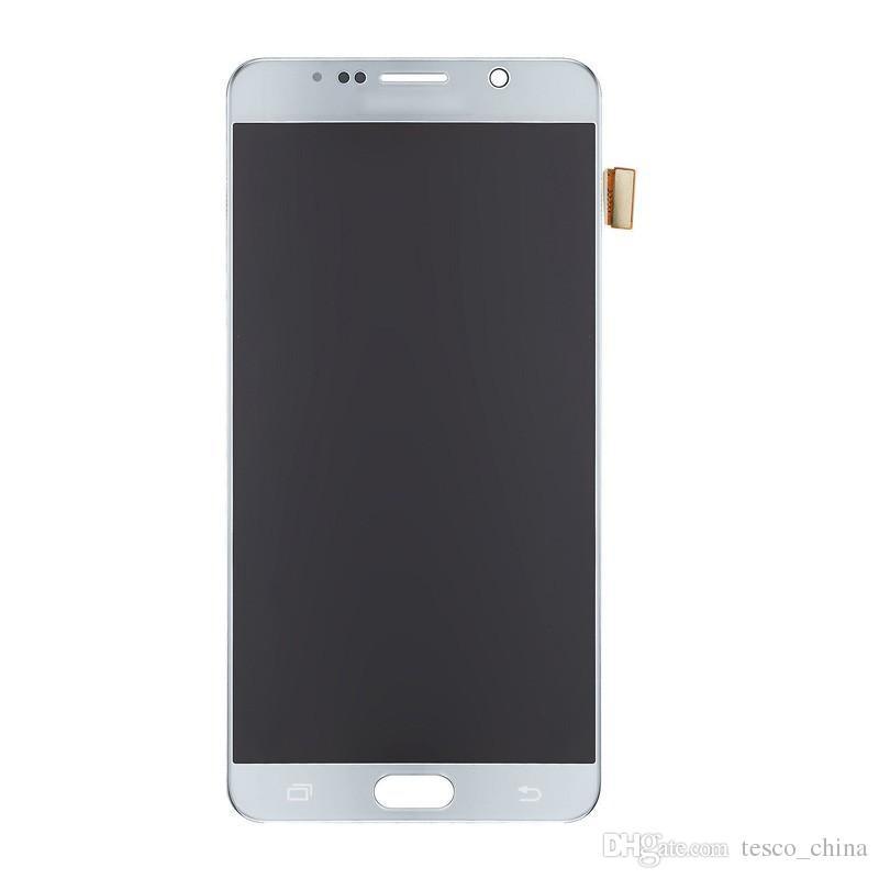 Orijinal En Kaliteli LCD Tam LCD Ekran Dokunmatik Ekran Digitizer Panelleri Flex Samsung Galaxy Note5 Için Komple Meclisi Fix Değiştirme