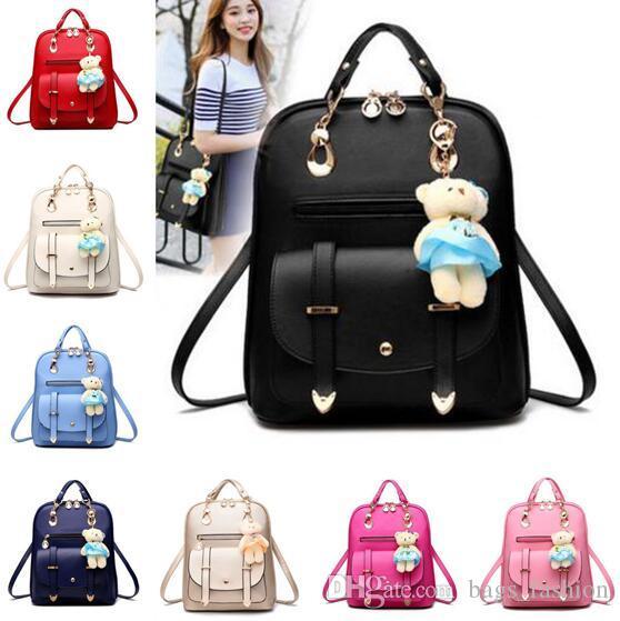 ab9e19ad72 Women Leather Backpacks Bolsas Mochila Feminina Large Girls Schoolbag  Travel Backpack Solid Candy Color Female Backpacks DHL Camping Backpack  Backpacks From ...