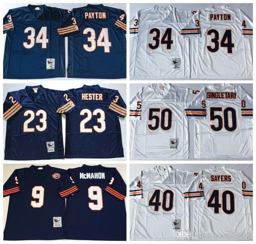 competitive price 11286 11fc5 norway chicago bears 9 jim mcmahon white retired player nike ...