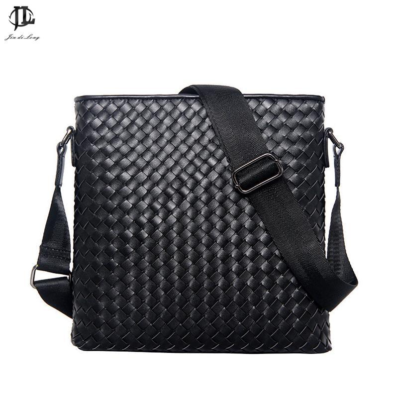 Wholesale New Men Genuine Leather Briefcase Computer Laptop Bag Brands  Business Weave Messenger Portfolios Daily Handbag Travel Bags Leather  Purses Bags For ... fee8aae46beae