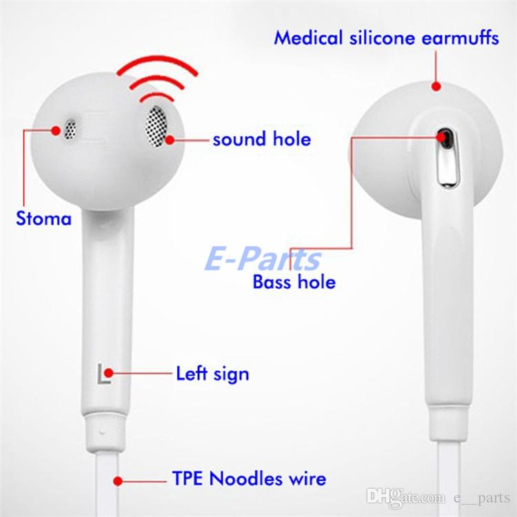 100% Original Earphones S6 Edge S7 Note5 Headphone Earbuds with Microfone 3.5mm & Volume Control with Original Retail Box By DHL