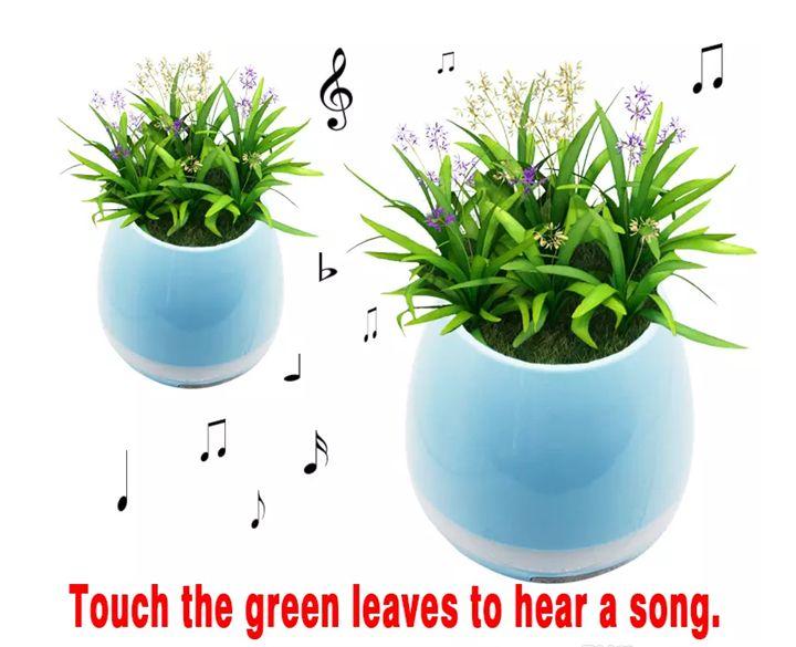 TOKQI Altavoces Bluetooth portátiles Bluetooth Smart Touch Music Flowerpots Plant Piano Music Reproducción de K3 Wireless Flowerpot sin plantas caliente