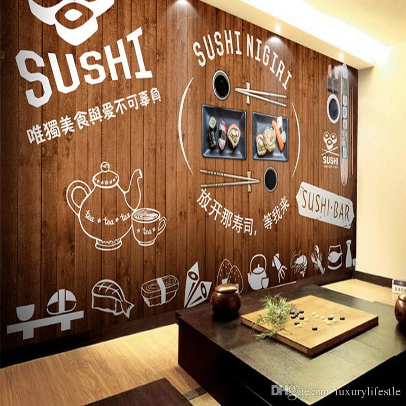 3d custom stereo sushi letter mural borderless restaurant for Mural coffee shop