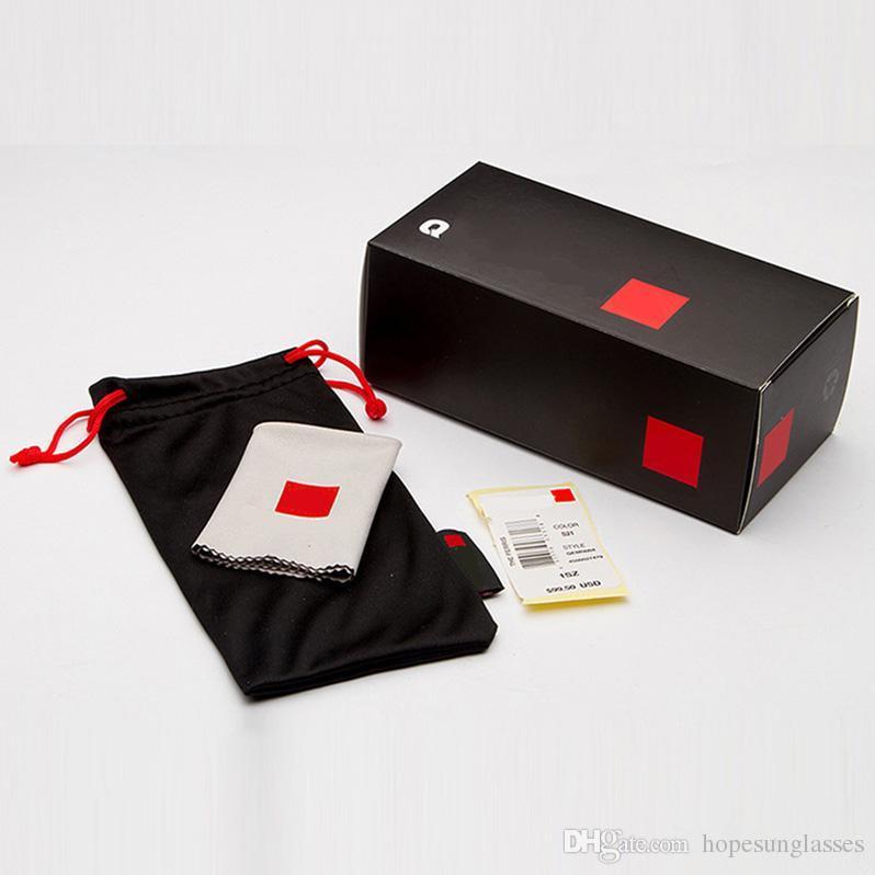 QS Brand Box Case Pour lunettes de soleil Lunettes de protection Lunettes de protection Accessoires Emballage d'origine pour lunettes de soleil avec boîte sac en tissu et Free Ship