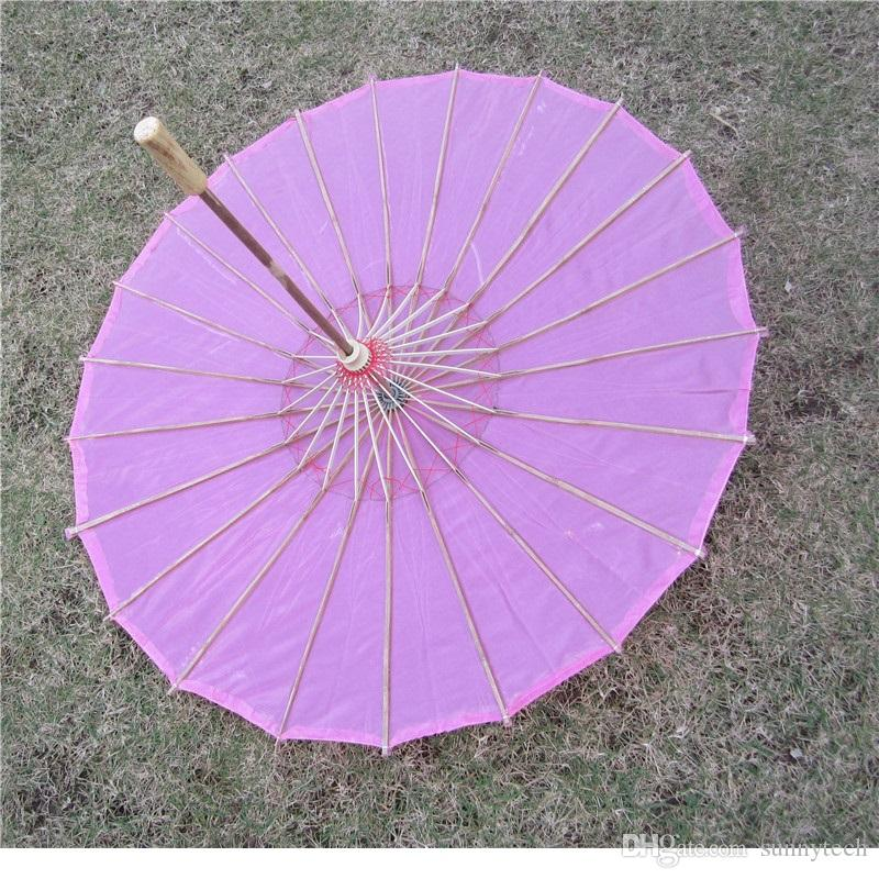 Chinese colored fabric umbrella, white pink parasols, China traditional dance color parasol, Japanese silk props WA1643