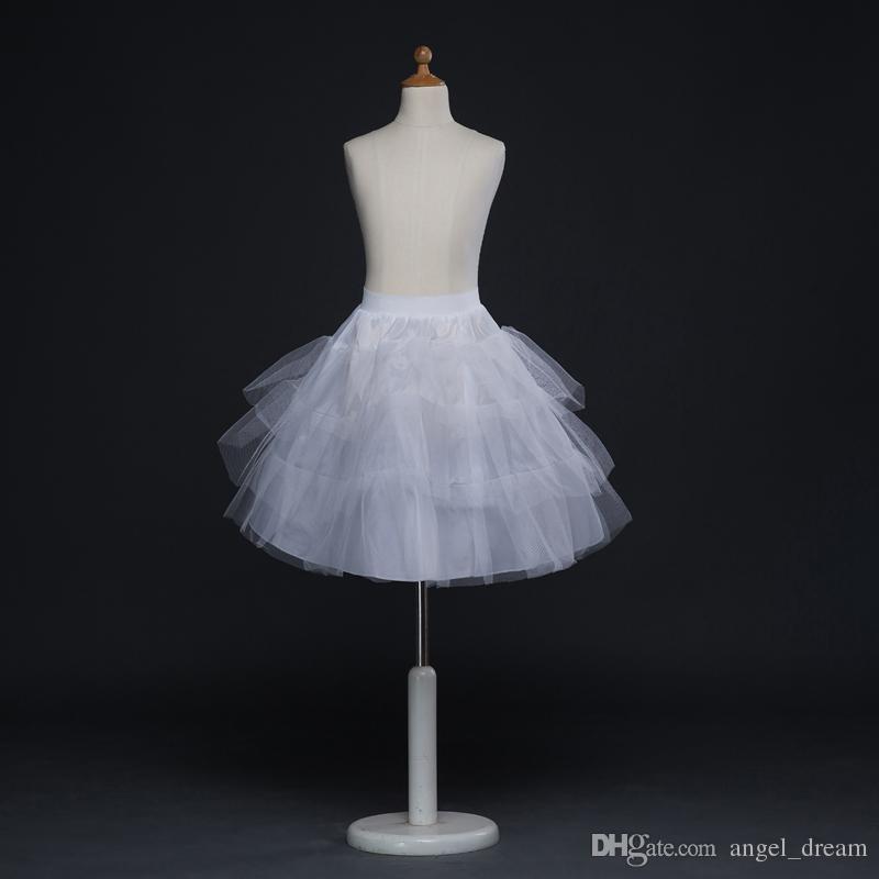 العلامة التجارية الجديدة التنورات الداخلية الأبيض Hoopless الرسمية فستان الزفاف قماش قطني اكسسوارات الزفاف 3 طبقات سيدة بنات المالية قصيرة تحتية