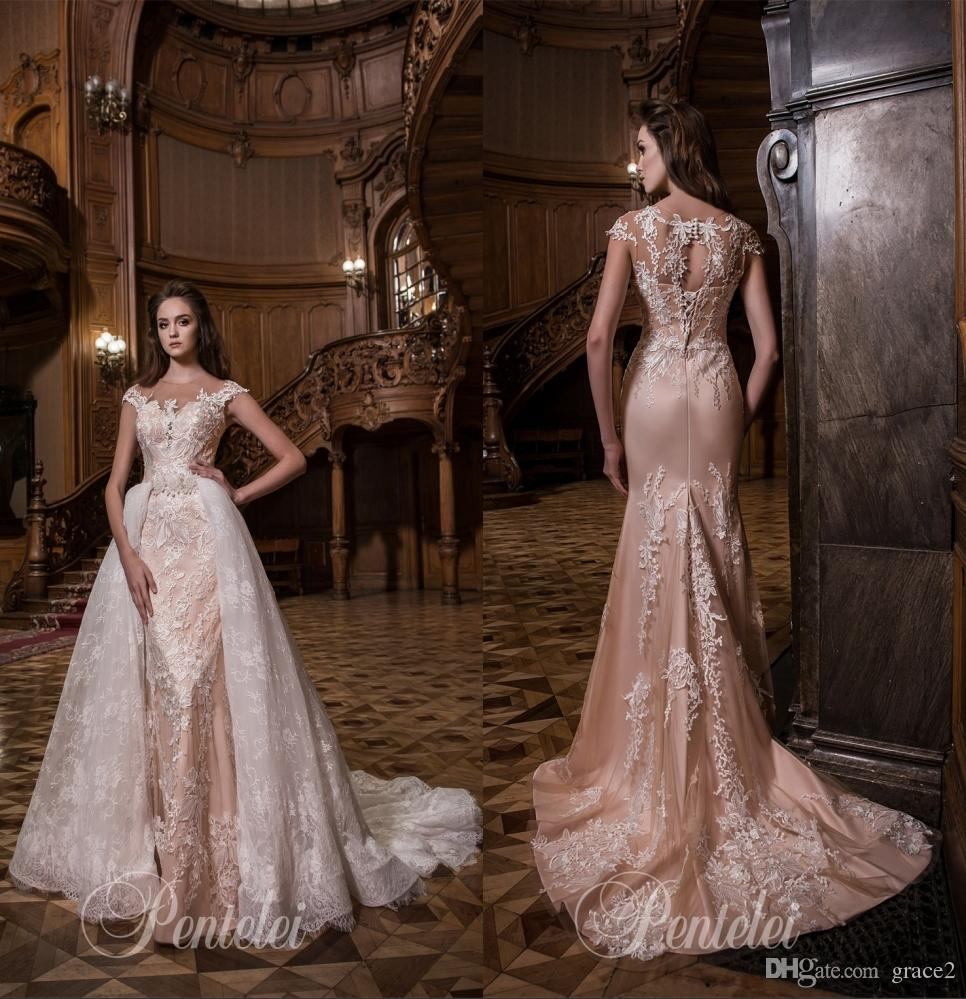 Overskirts Wedding Dresses 2017 Pentelei With Cap Sleeves And ...
