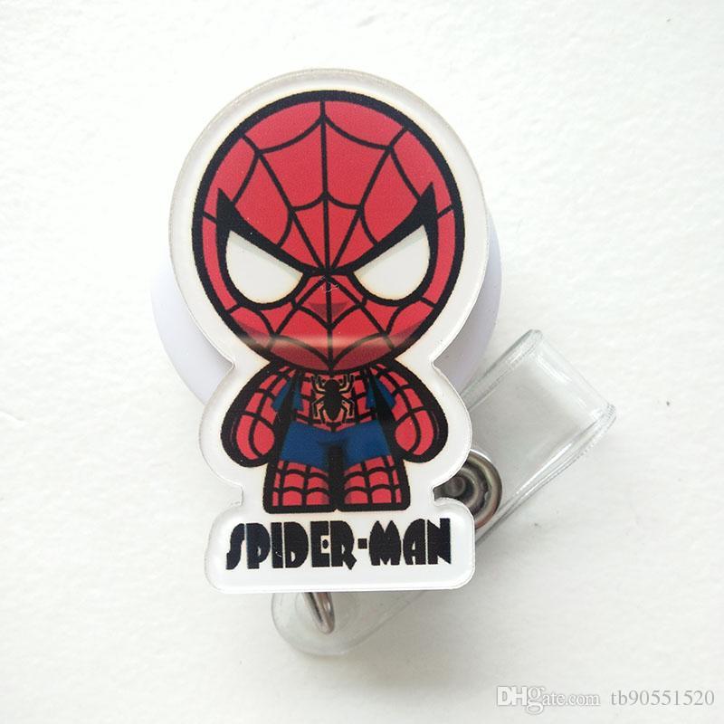 Batman Captain American Cartoon Retractable Lanyard ID Card Badge Holder Reels with Clip Keep ID Key Cell phone Safe