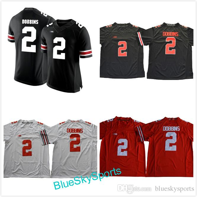 sale retailer a4061 58e45 2017 Ohio State Buckeyes #2 J.K. Dobbins Jersey White Black Red Blackout  Limited College Football Jerseys Size S-XXXL