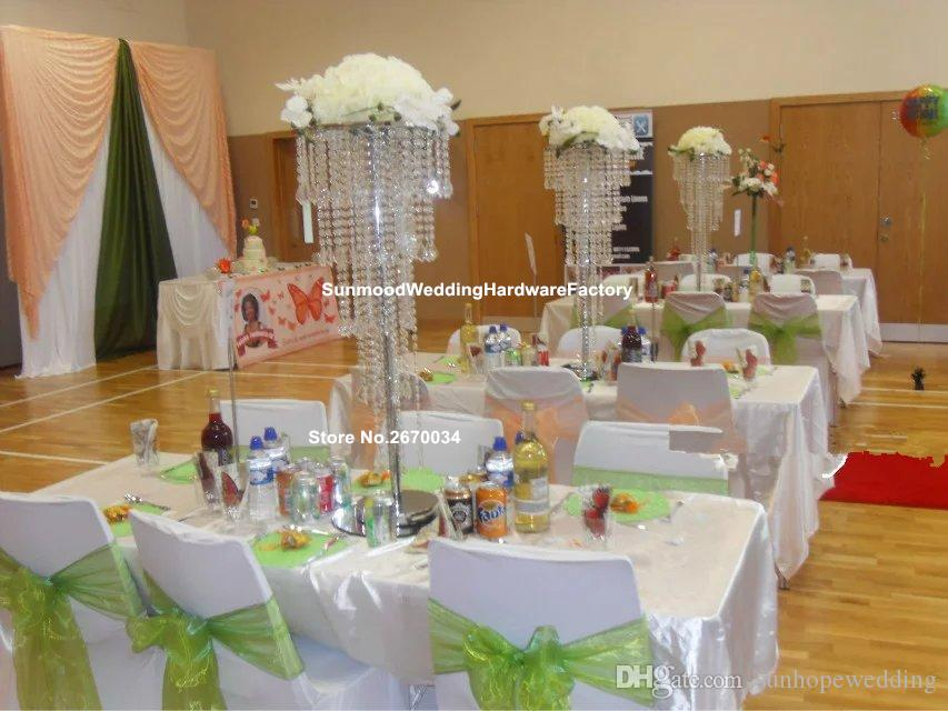 100cm tall wedding stage decoration party crystal wedding floor stand walkway pillar aisle stand for wedding