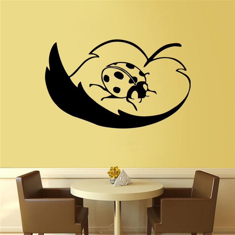 Handmade Creative Graphic Vinyl Wall Sticker Of Snail And Ladybug ...