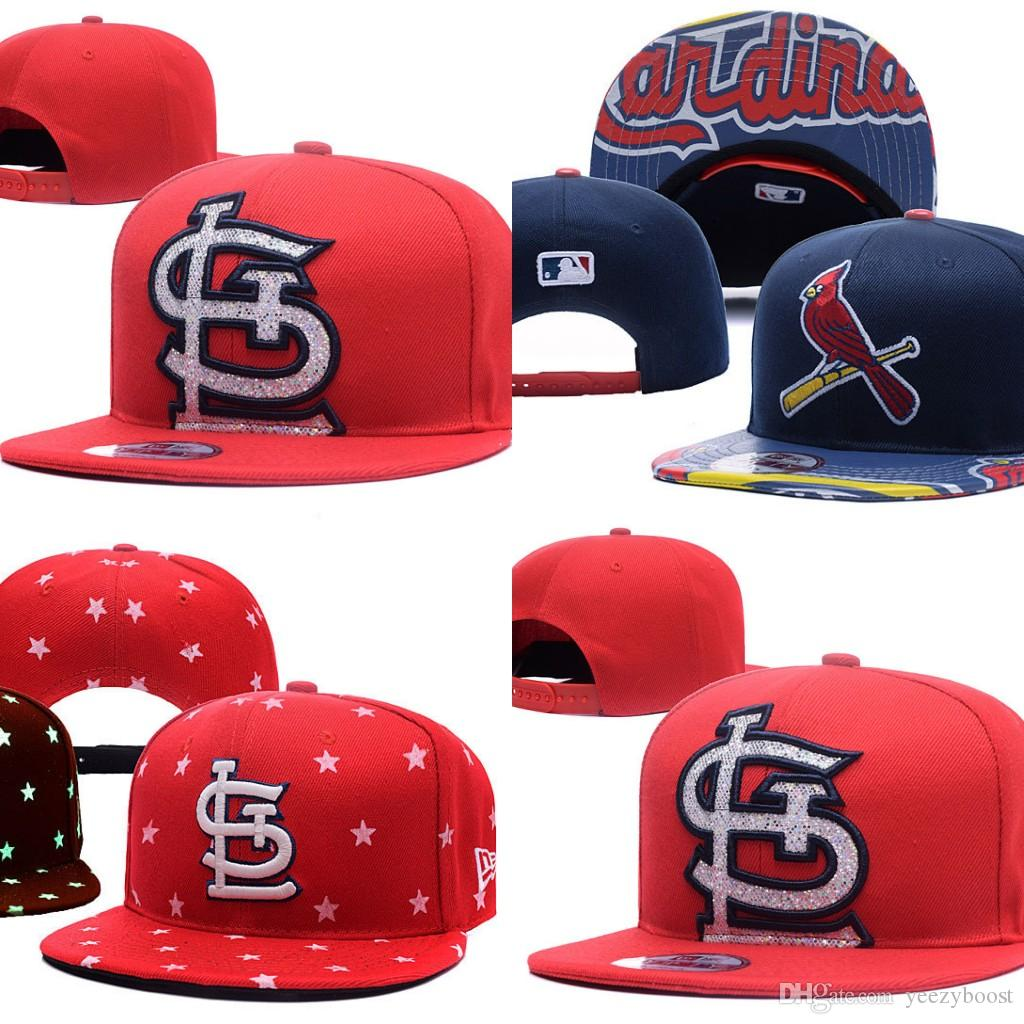 c01e19287f5a8 2019 Wholesales St. Louis Cardinals Baseball Cap Embroidered Team Logo  Fitted Cap Sport Fit Hats Colorfull From Yeezyboost