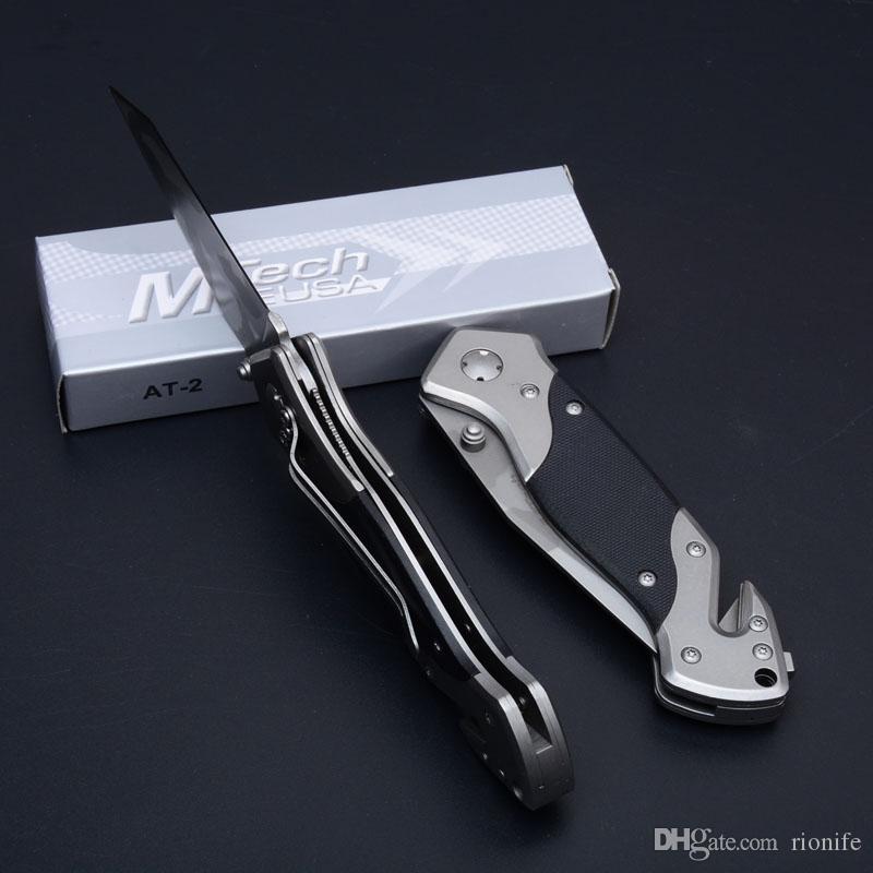 Cuchillo plegable de calidad superior EE. UU. MTech Cuchillos plegables de supervivencia para acampar al aire libre que acampan A412