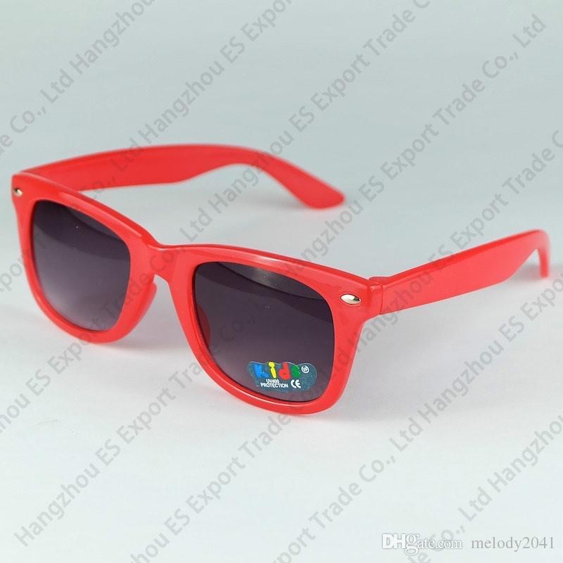 es actualizados caramelo colorido niños gafas de sol venta caliente Clásico niños gafas de sol mezclado es 20 unids envío gratis