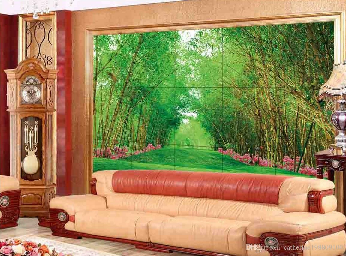 New Custom 3D Beautiful Bamboo and bamboo rainbow security section of the living room