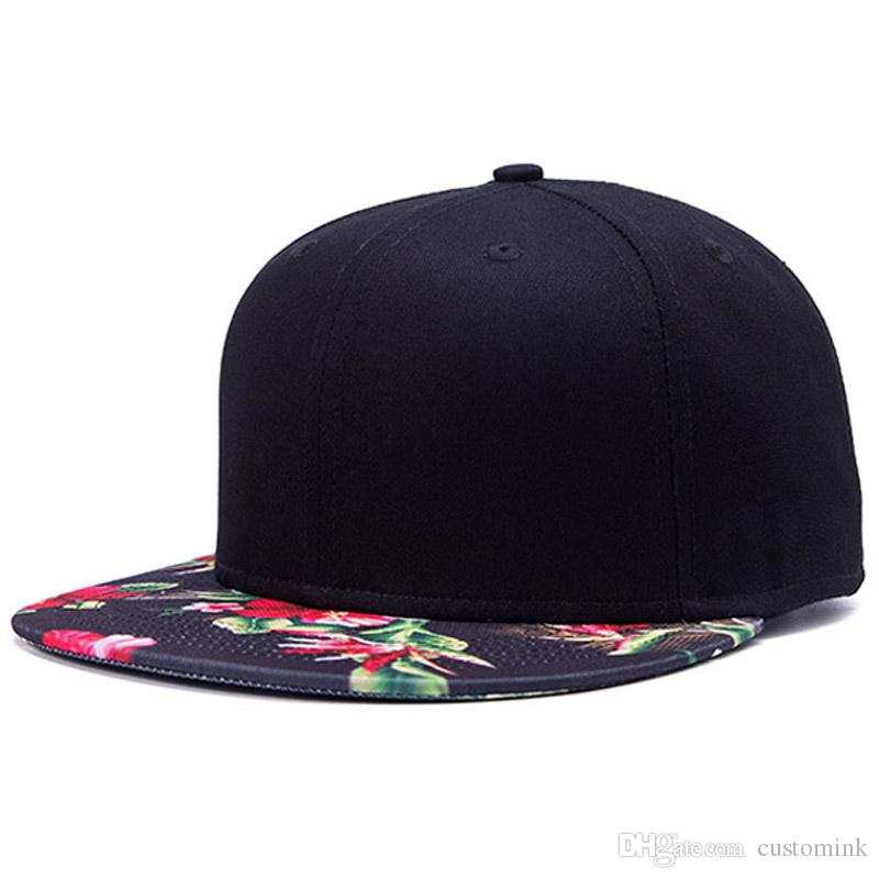 3488260f32f Korean Style Red Flower Printing Street Hip Hop Baseball Hat Fashion ...