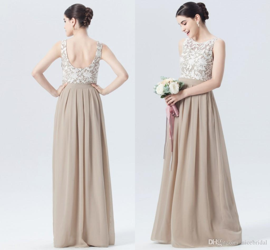 Simple Cheap Long Chiffon Bridesmaid Dresses For Wedding Guest Party ...
