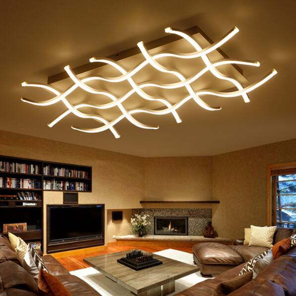 Ceiling Lights Square Led Ceiling Lights Living Room Bedroom Remote Control Lamparas De Techo Moderna Gold Coffee Frame Home Fixtures