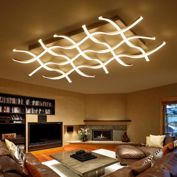 rectangle acrylic modern led ceiling lights for living room bedroom lamparas de techo colgante square led ceiling lamp fixture pendant lantern multi pendant - Led Ceiling Lights For Living Room
