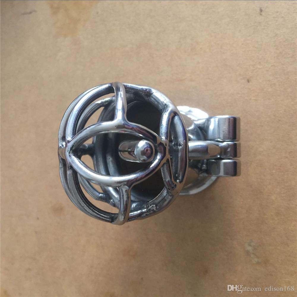 Male Stainless Steel Penis Piercing PA Puncture Lock Bondage Cock Cage Chastity Device Sex Toy For Men Adult BDSM Product S060
