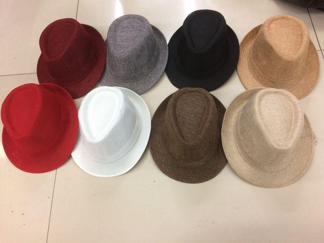 Women Fedora Trilby Gangster Cap Summer linen Panama Hat Vintage Retro Jazz Dance Hat Beach Sunhat