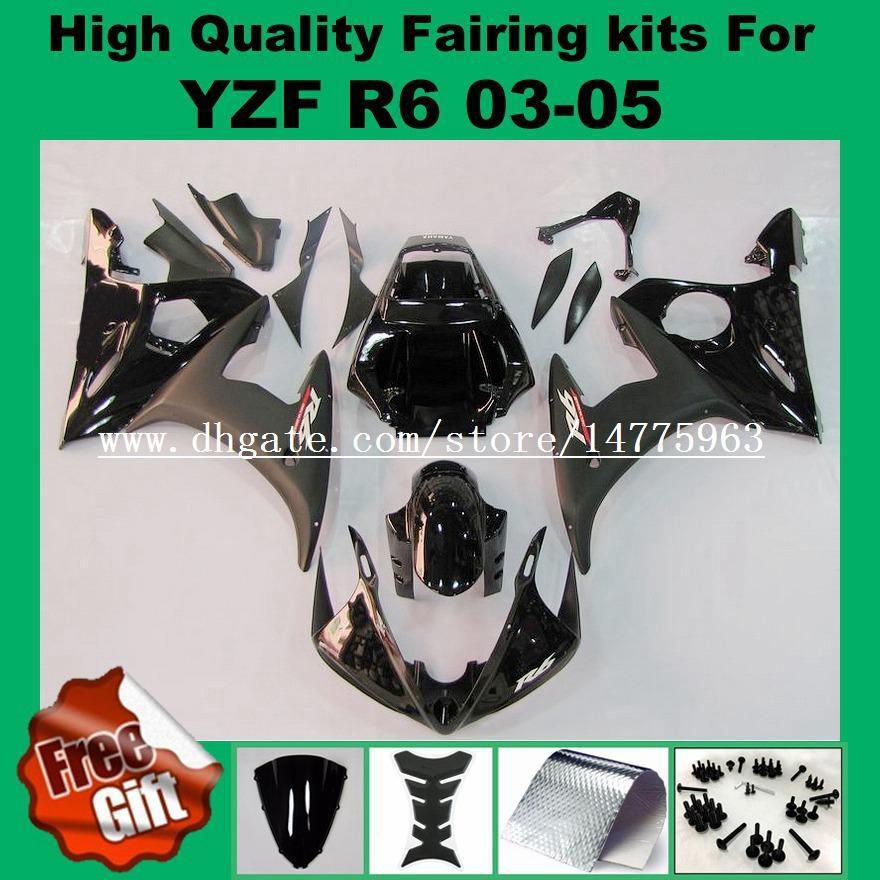 Kits de carenado aptos para YAMAHA YZF600 R6 2003 2004 2005 YZF R6 03 04 05 YZFR6 03-05 Carenados YZF-R6 blancos