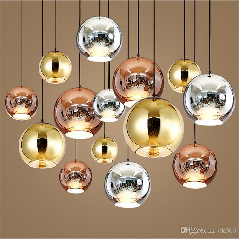 def9f9a6849 Tom Copper Moda Bola De Vidro Dixon Bolha Melhor Teto Iluminação Pingentes  Lâmpada E27 220 V 110 V de Cobre De Ouro de Prata Moderna Luz Pingente