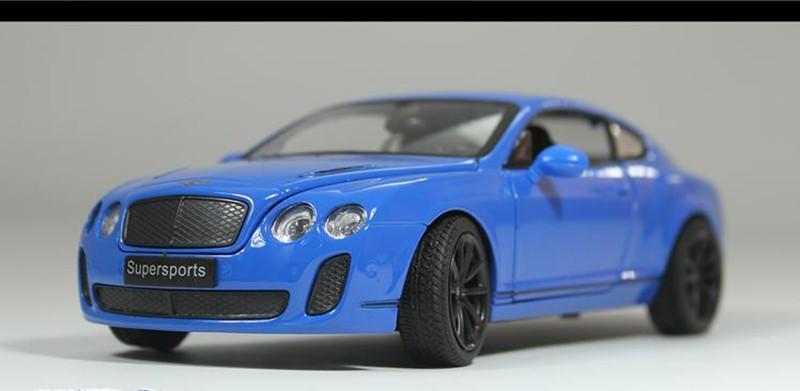 Modèles statiques de voitures en alliage 1:24, voitures miniatures, simulation haute Bentley, jeux de dièse en métal, véhicules jouets,