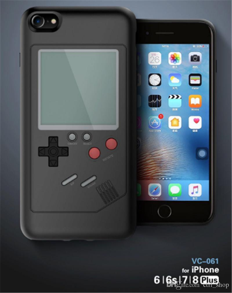 New Retro Game Consoles Phone Back Game case TPU for iPhone 6 7 8 Cover Protective Shell Black/White with retail package
