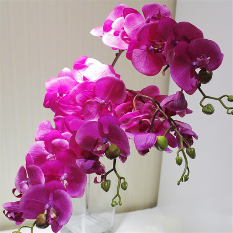 30b59b8959c89 Wholesale Real Touch Butterfly Orchid Phalaenopsis Artificial Latex Orchids  Flower For Wedding Decoration Diyartificial Flowerswedding Decoration  Online ...