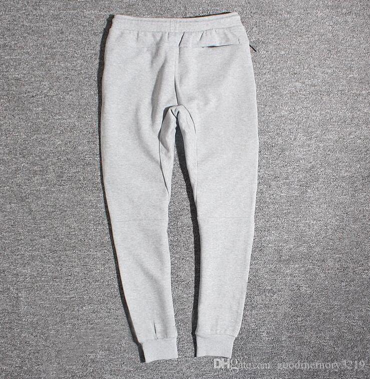 NLOK-2019 Sıcak Satış Teknik Polar Spor Pantolon Uzay Pamuk Pantolon Erkekler Eşofman Altları Erkek Joggers Teknoloji Polar Camo Koşu Pantolon 5 Renkler