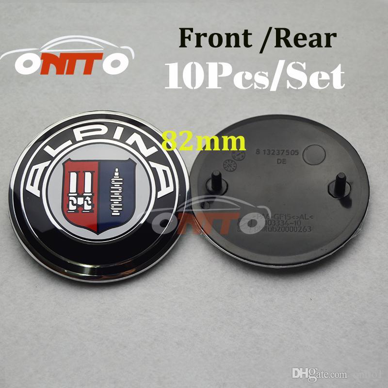 Best Price 82MM ABS Aluminum ALPINA AC Schnitzer Auto head hood Emblem rear boot label Car front Bonnet Logo tail Trunk Badge