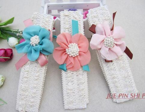 Baby Hair Accessories for Infant Baby Lace Big Flower Bow Princess Babies Girl Hair Band Headband Baby's Head Band Kids DHL Free
