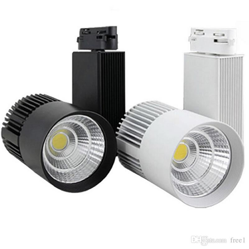 Dhl ce rohs led lights wholesale 30w 3000lm cob led track light spot dhl ce rohs led lights wholesale 30w 3000lm cob led track light spot lamp tracking soptlight ac 85 265v led indoor lighting cob led track light led track aloadofball Image collections