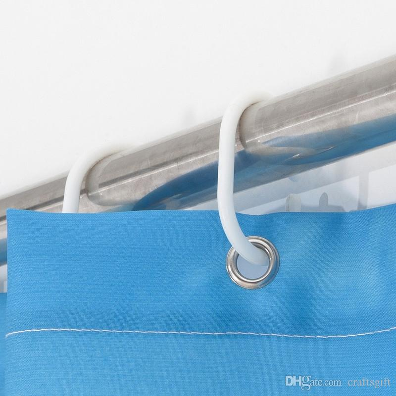 불가사리 샤워 커튼 열전달 인쇄 욕실 커튼 방수 곰팡이 증거 폴리 에스터 샤워 목욕 커튼 호텔