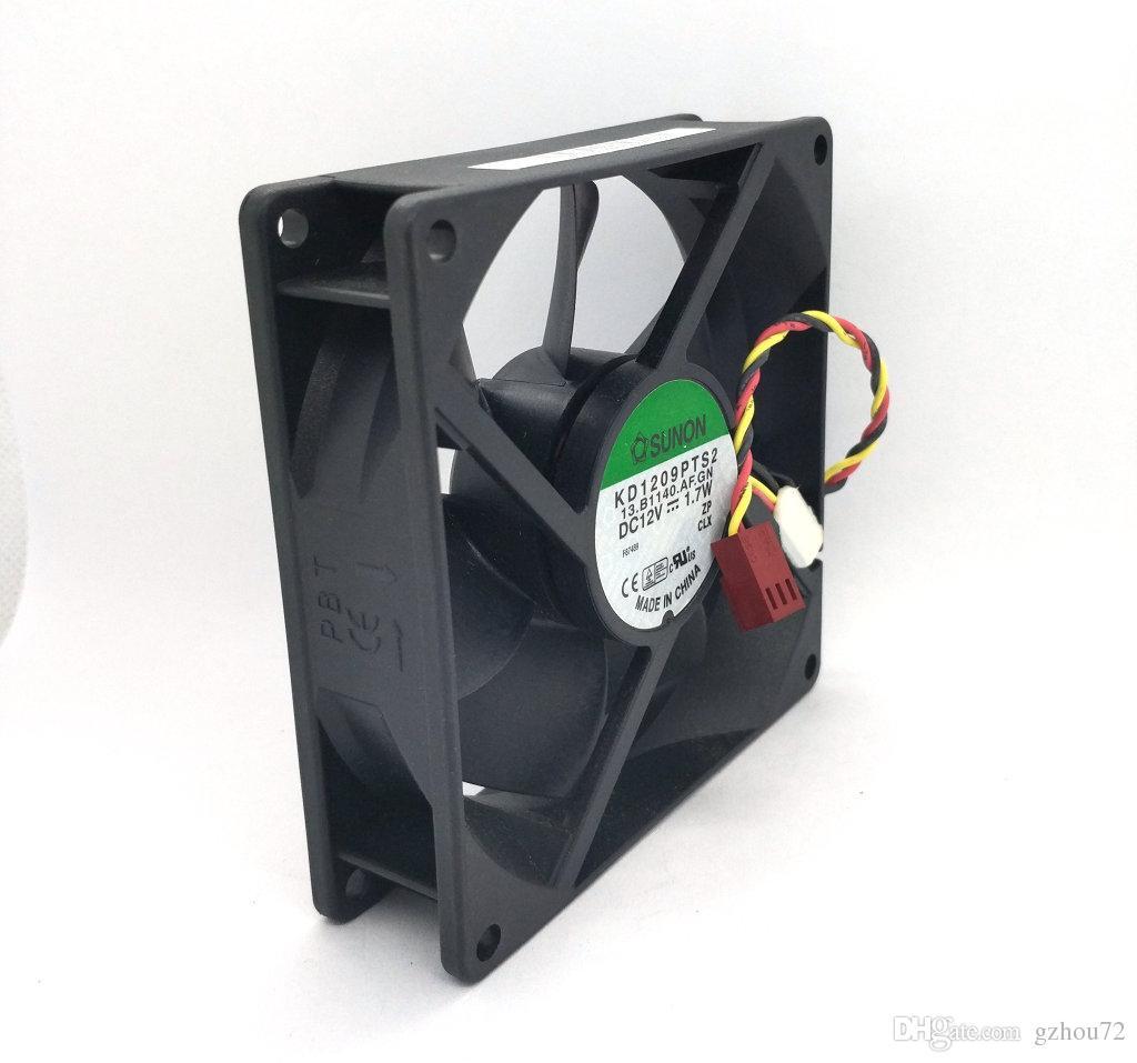 Original novo SUNON KD1209PTS2 DC12V 1.7 W 1.6 W 90 * 90 * 25 MM 3 Linhas ventilador de refrigeração Do Computador