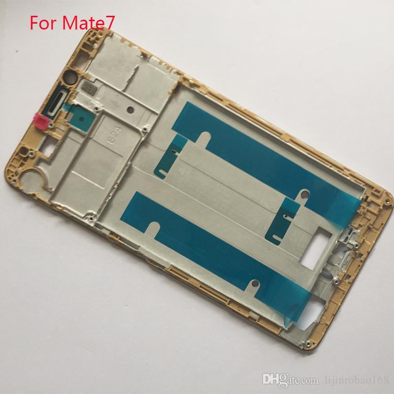 Front Bezel frame for Huawei Ascend Mate 7 Mate7 LCD Display TP Digitizer Assembly Parts White/Black/Gold Replacement