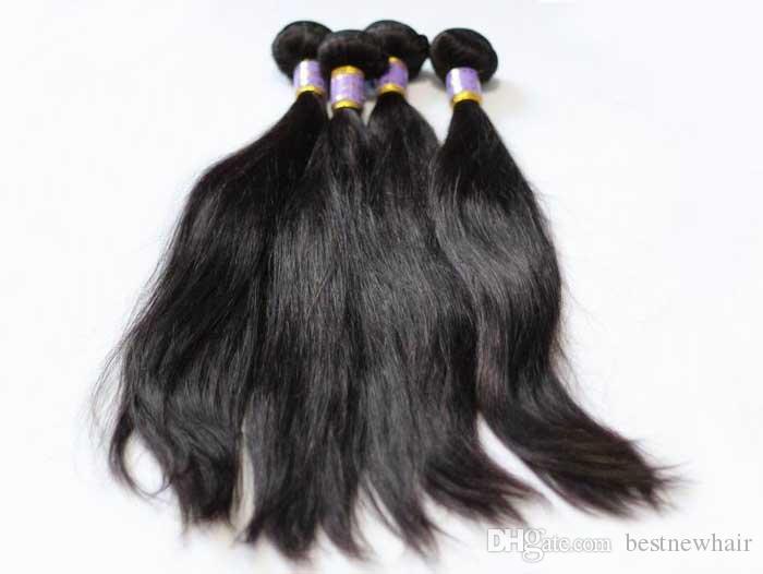 브라질 머리 엮어 처리되지 않은 처녀 인간의 머리 씨실 인도 말레이시아 페루 머리 확장 더블 씨실 자연 검은 염색