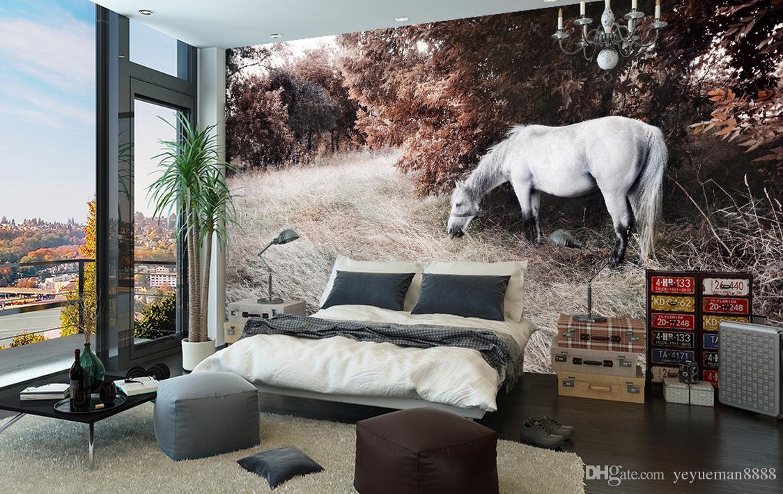 Acheter papier peint personnalisé rouleau cheval photographie fond