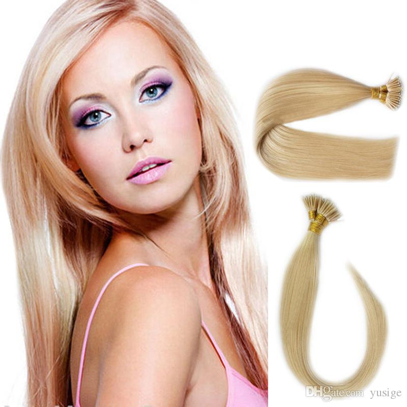 Super cheap keratin I tip hair Russian remy i tip human hair extensions 1g/pcs pre bonded hair in stock