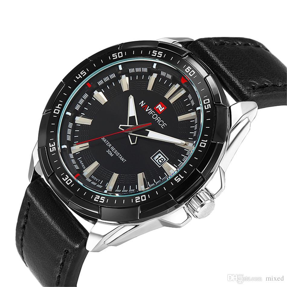 NAVIFORCE 9056 Мужские спортивные часы пояса Календарь Импорт Бренд Мужское движение