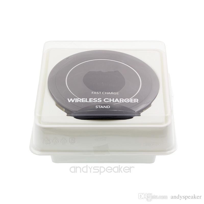 QI شاحن لاسلكي سريع الشحن ل iPhone X iPhone 8 Plus لسامسونج ملاحظة 8 S8 زائد S7 حافة جودة عالية مع حزمة البيع بالتجزئة 10 / أعلى