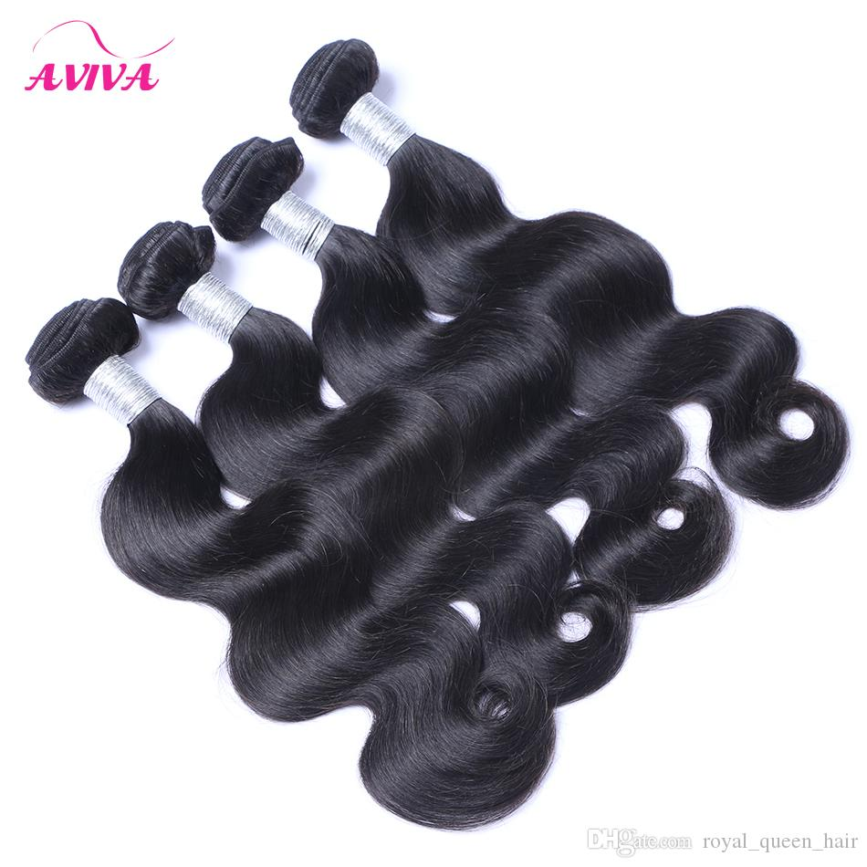 8A Brazilian Virgin Human Hair Weave Bundles Body Wave Unprocessed Peruvian Malaysian Indian Cambodian Wavy Remy Hair Natural Color Dyeable