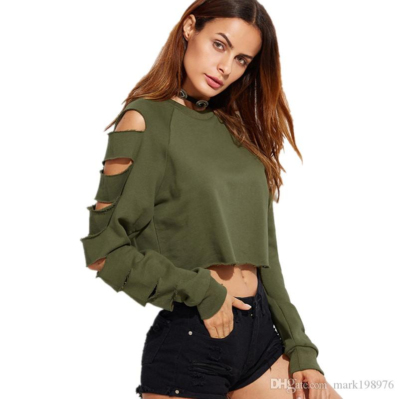 d95d18d086da1 European New Fashion Women Tee Shirt High Quality Hole Long Sleeve Sexy Tube  Tops Brand Ladies Short T Shirt Loose T Shirts ST055 Cheap T Shirt Design  Your ...