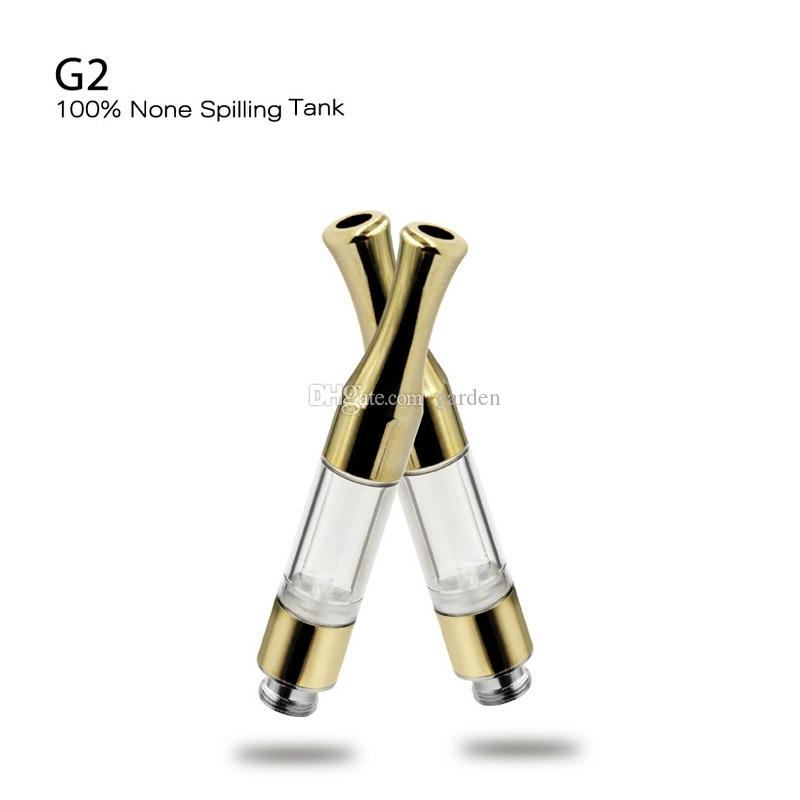G2 CE3 510 Cartridge Vape Tank 0.5ml 0.8ml 1.0ml Gold Metal Plastic Drip Tips WAX Thick Oil Vaporizer For BUD Touch O Pen Battery