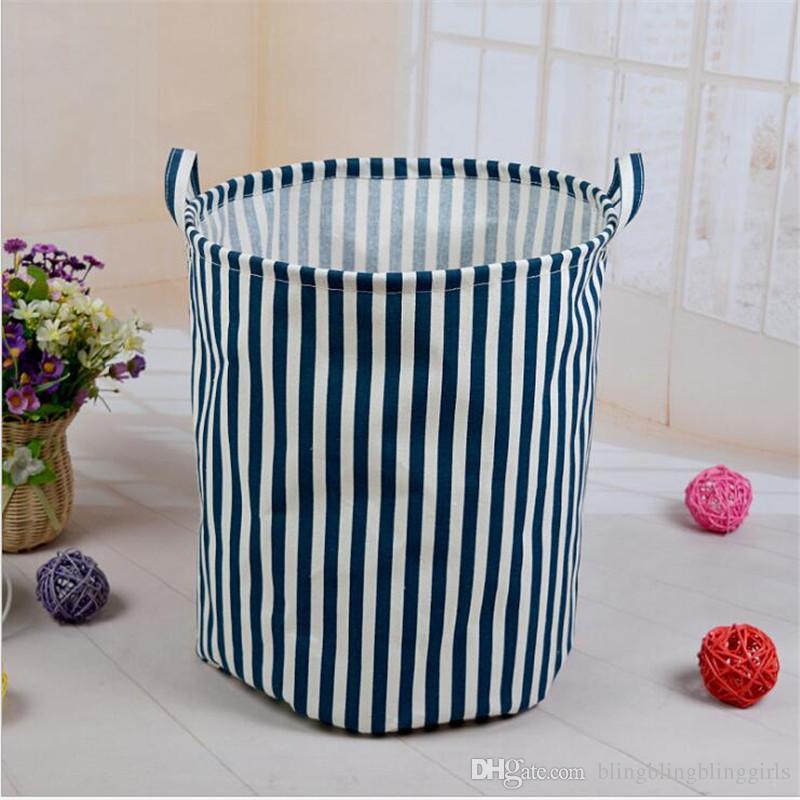 New Fabric Art Storage Bag Canvas Storage Bucket Laundry Bag Organizer  Nursery Children Room Storage Basket Organizer Handbags On Sale Shoulder  Bags From ...